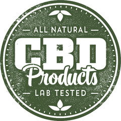 Natural CBD Hemp Oil Products Stamp