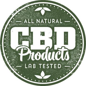 Natural CBD Hemp Oil Products Stamp