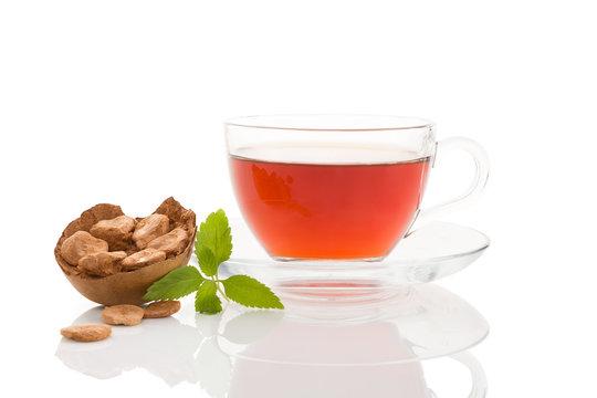 Monk fruit and aztec sweet herb tea.