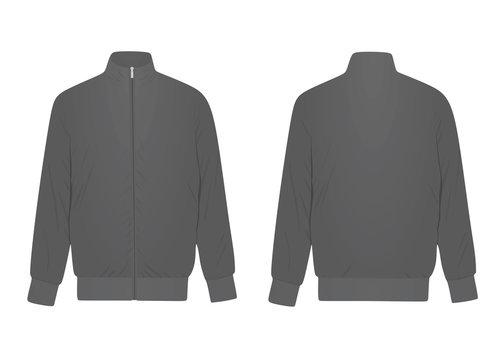Grey tracksuit top. vector illustration