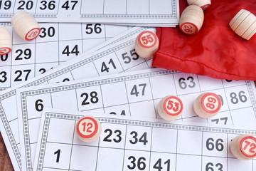 Board entertaining lotto game. Bingo lottery