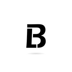 LB letter logo design simple illustration template