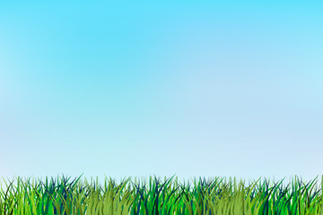 Grass render vector background template