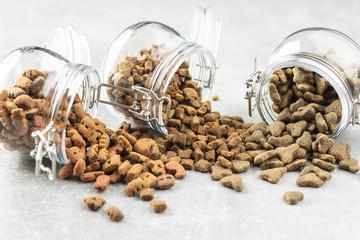 Dry pet food. Kibble dog or cat food. Wall mural