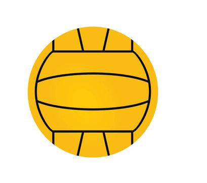 Water polo ball. vector illustration