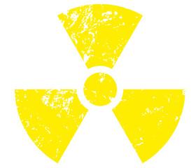 Yellow Radioactivity symbol