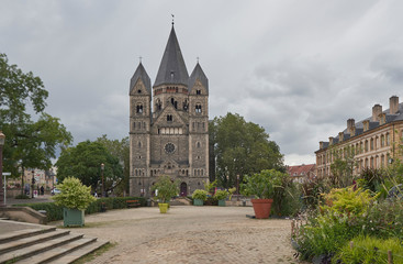 Metz Cjatedral and park France.