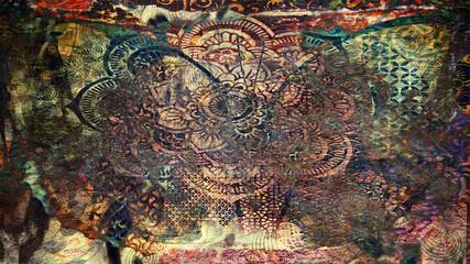 Foto op Canvas Vlinders in Grunge grunge butterfly texture