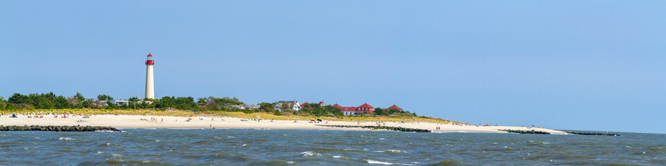 Cape May Lighthouse beach panorama