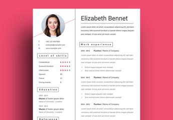 Minimalist Photo Resume Layout