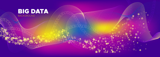 Big Data Analysis. Yellow Technology Abstract. 3d