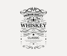 Vintage premium whiskey label banner badges set. Luxury decoration design. Collection banner.