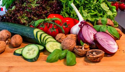 fresh salat vegetrables