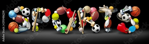 Wall mural Sports Text