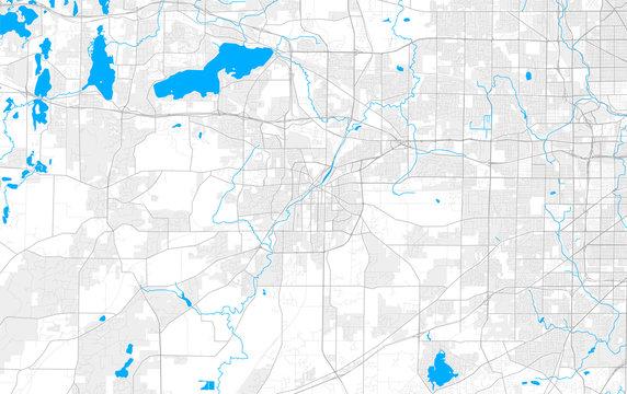 Rich detailed vector map of Waukesha, Wisconsin, USA