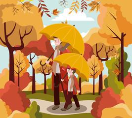 Family and autumn season design