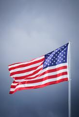 Die amerikanische Flagge im Wind