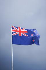 Die australische Flagge am Flaggenmast