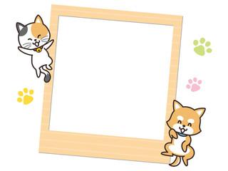 犬と猫と写真フレーム