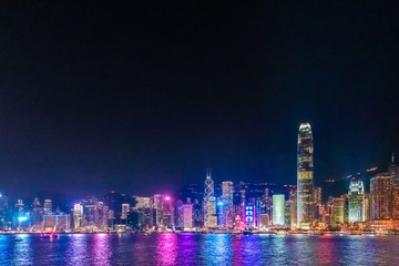 Fotomurales - Hong Kong Night View, Victoria Harbour