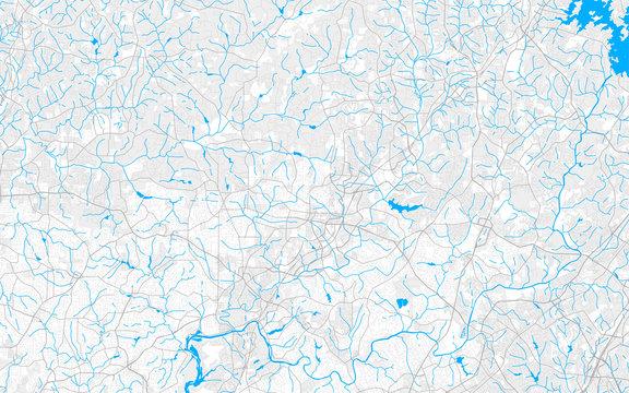 Rich detailed vector map of Alpharetta, Georgia, USA