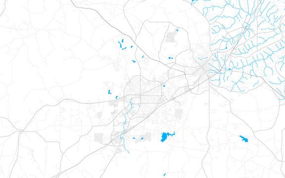 Rich detailed vector map of Auburn, Alabama, USA