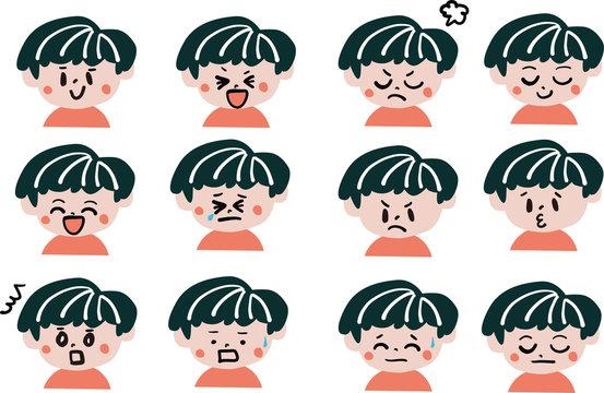 男の子 表情セット