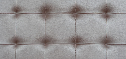 Wall Mural - Light black luxury upholstery sofa texture background concept for clean gray vintage leather furniture pattern wallpaper, closeup interior elegant armchair mattress surface detail, real tuft material.