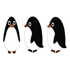 Three Baby Penguins - Cartoon Vector Image