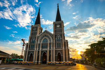 One of famous landmark in Chanthaburi is catholic church that is very old building and beautiful.The Roman Catholic Church Chanthaburi province,Thailand.
