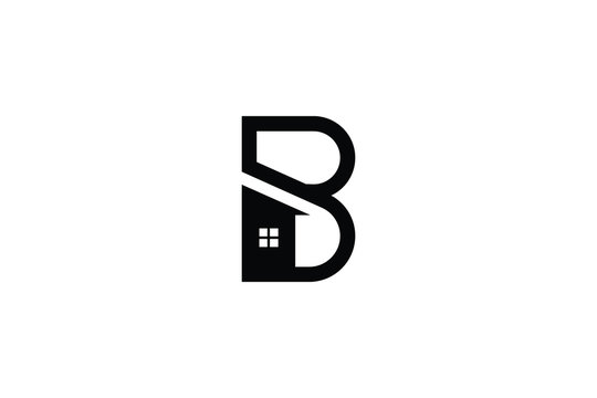 Letter B in vector for Real Estate , Property and Construction Logo design for business corporate sign. Minimal logo design template on white background.