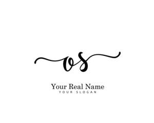 Obraz OS Initial beauty monogram logo vector - fototapety do salonu