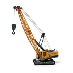Toy crane on white background