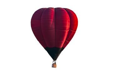 Poster Ballon Red hot air balloon isolated on white background, with Clipping Path