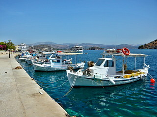 Greece-view of the harbor in Tolo