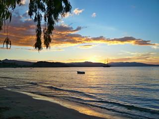 Greece-coast of the Peloponnese before sunrise
