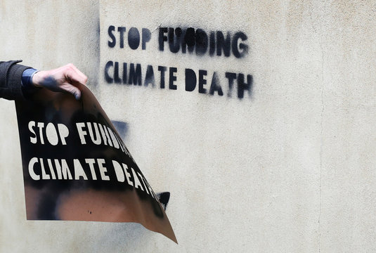 Extinction Rebellion protest outside the Treasury building in London