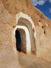 An entrance of the traditional Tunisian dwelling