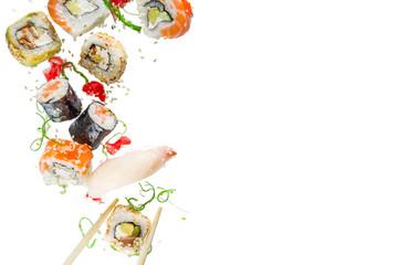 In de dag Sushi bar Seamless pattern with sushi
