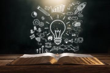 Startup tech abstract brainstorm business close closeup