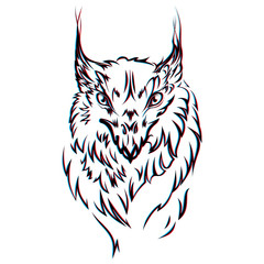 Vector image of an griffin executed in the form of a tattoo
