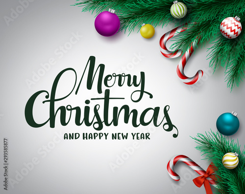 Christmas Vector Background Merry Christmas And Happy New