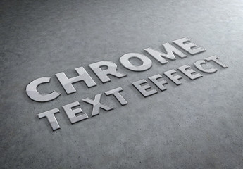 Chrome Metal Text Effect