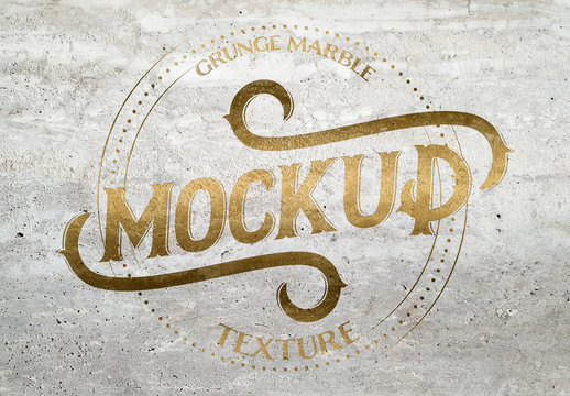 Grunge Marble Texture Mockup