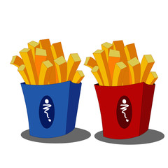 French Fries - Cartoon Vector Image