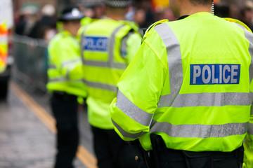 British police crowd control at a UK event Fotoväggar