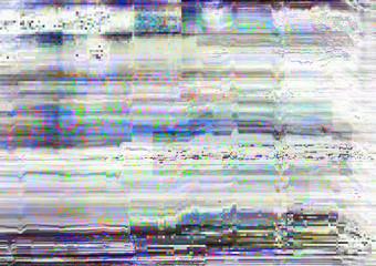 Screen glitch. Signal error. White static noise pattern overlay.