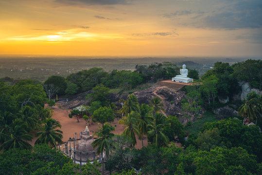 Mihintale in Anuradhapura, Sri Lanka at dusk