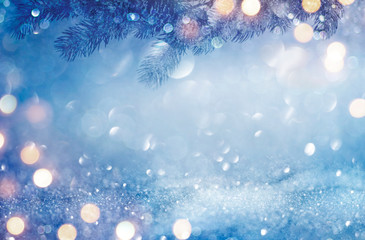 Christmas and New Year abstract winter holidays background concept