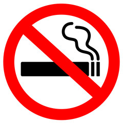 Aluminium Prints Smoke No smoking sign